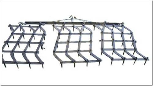 Отметим, что звенья шлейф-бороны могут быть расположены под разными углами к горизонту.