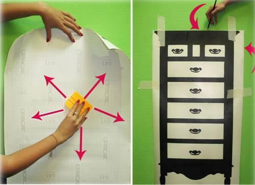 Как клеить виниловые наклейки на стену