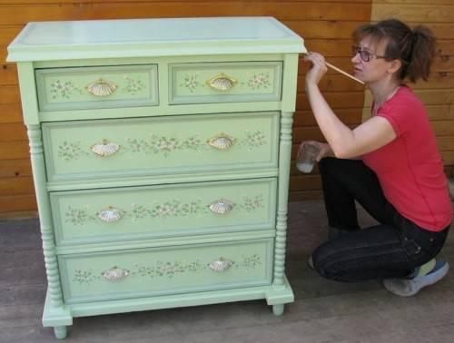 Как покрасить комод