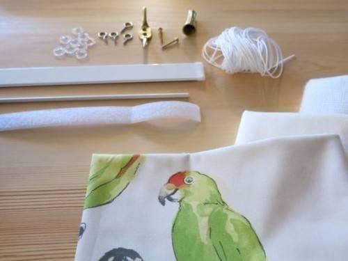 Как сшить римскую штору своими руками