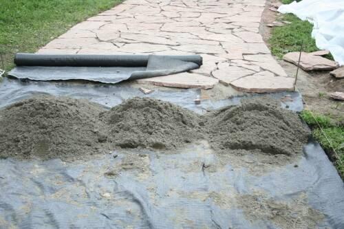 Строительство дорожек для сада с помощью геотекстиля Дорнит